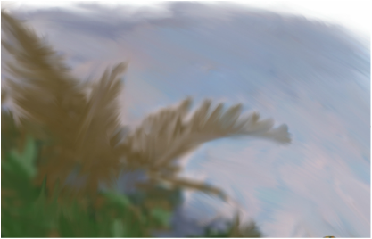 Painting the background with the smear tool.