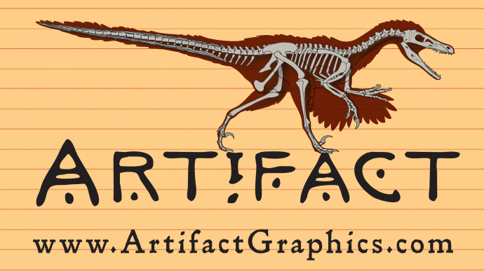 Velociraptor bone map by Michelle Leveille / Artifact Graphics