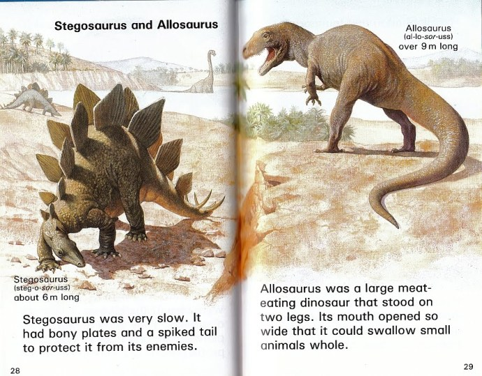 The old-style tail-dragging allosaurus