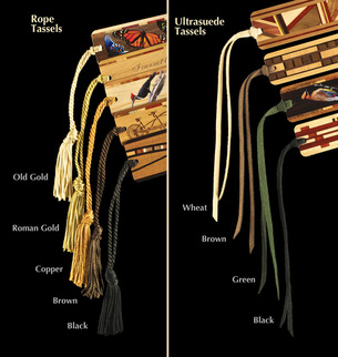 Expensive bookmarks with tassels!