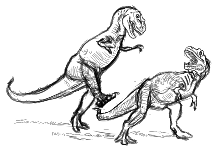 First T. rex sketch
