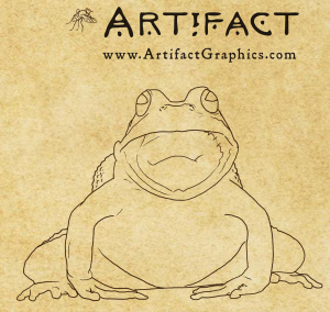 Frog drawing by Michelle Leveille