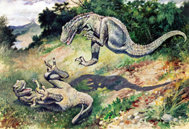 Charles R. Knight was hugely influential in the world of paleo-art.