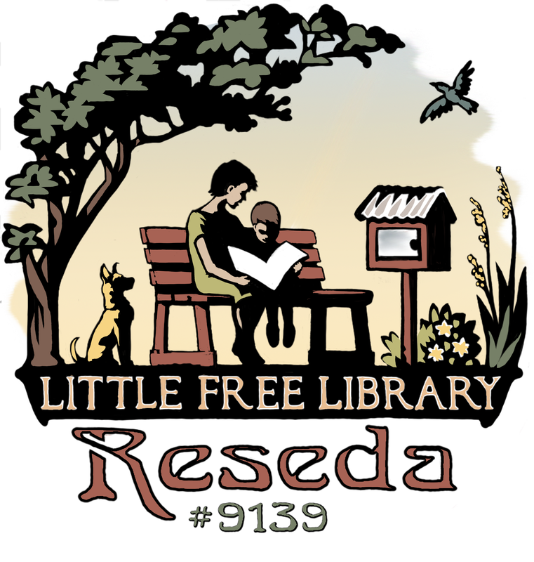 The final color logo for the Little Free Library Reseda