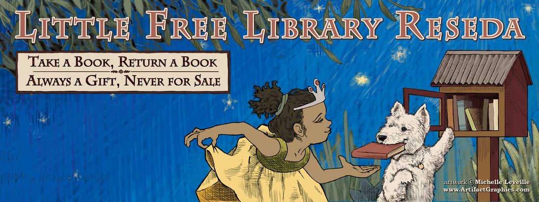 The facebook cover image I created for the Little Free Library Reseda