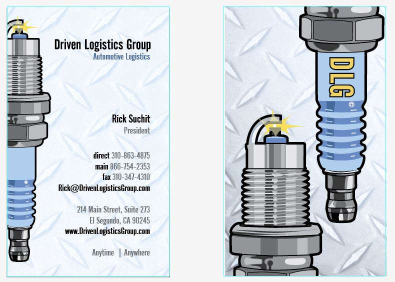 Rick's business card front and back
