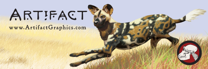 Cape hunting dog, by Michelle Leveille